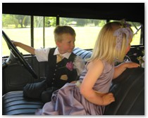 Chauffeur driven wedding cars