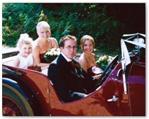 Hampshire vintage wedding car hire